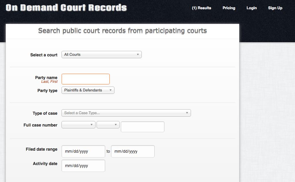 ODCR Case Search