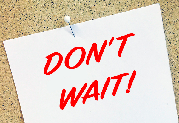Don't wait image